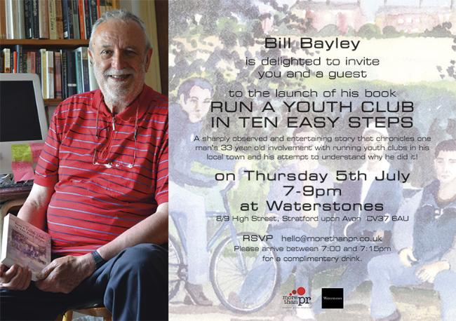 Bill Bayley book launch invitation