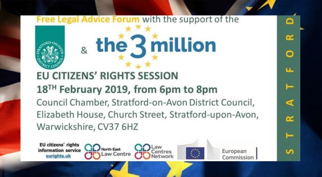 EU CITIZENS' RIGHTS SESSION SDC/3MILLION