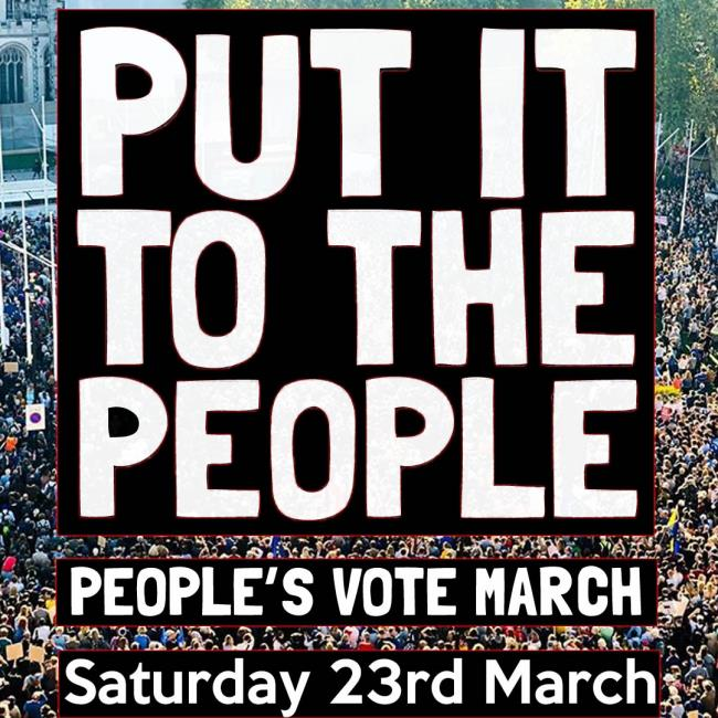 PUT IT TO THE PEOPLE - PEOPLE'S MARCH 2019