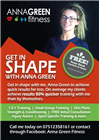 A5 Flyer for Anna Green Fitness